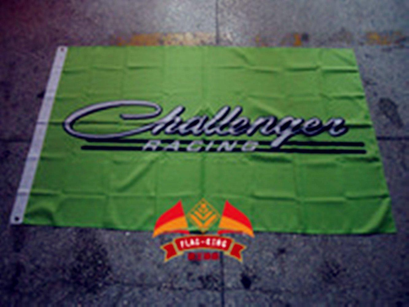 green challenger flag challenger racing flag challenger car banner Dodge challenger flag Dodge challenger banner--polyster flags,Brass Grommets,Anti-UV,Digital Printing--car flags 3 X 5 Ft