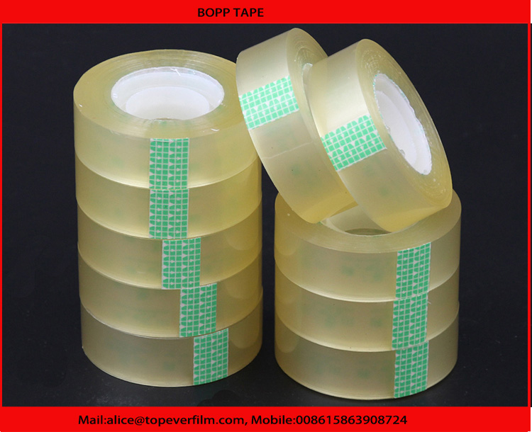 Clear Water Based Acrylic Adhesive Carton Sealing Bopp Packing Tape