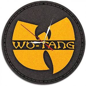 Wu-Tang Clan Decal Waterproof Color Modern Sticker Wall Clock - Decorate your home with Colored Hip Hop Art - Best gift for men and women, friend, girls and boys - Win a prize for a feedback