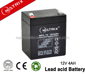 High standard vrla 12v 4ah battery with CE ISO MSDS