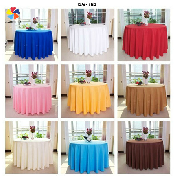 High quality fancy wedding polyester microfiber decoration table cloth