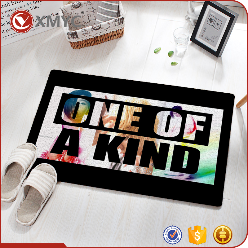 Custom Logo Digital Printed Bedroom Bathroom Kitchen Entrance Entry Step Ground Floor Door Mat