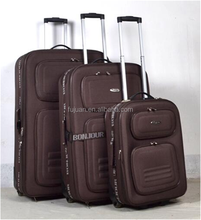 New stocked 1200d travelling 3pcs suitcase wholesale