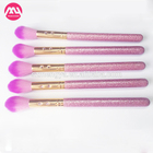 Hotsale Pink Glitter Makeup Brushes Set wholesale jeweled Cosmetic Brush