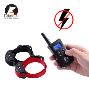Adjustable 100 levels Vibrate No shock Remote Controlled Dog Training bark neck Collar for Two Dogs