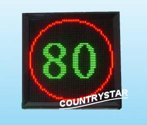 Highway digital led speed display