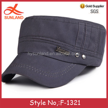 F-1321 wholesale 100%cotton flat top types of military hats army baseball  cap 81c54519d85