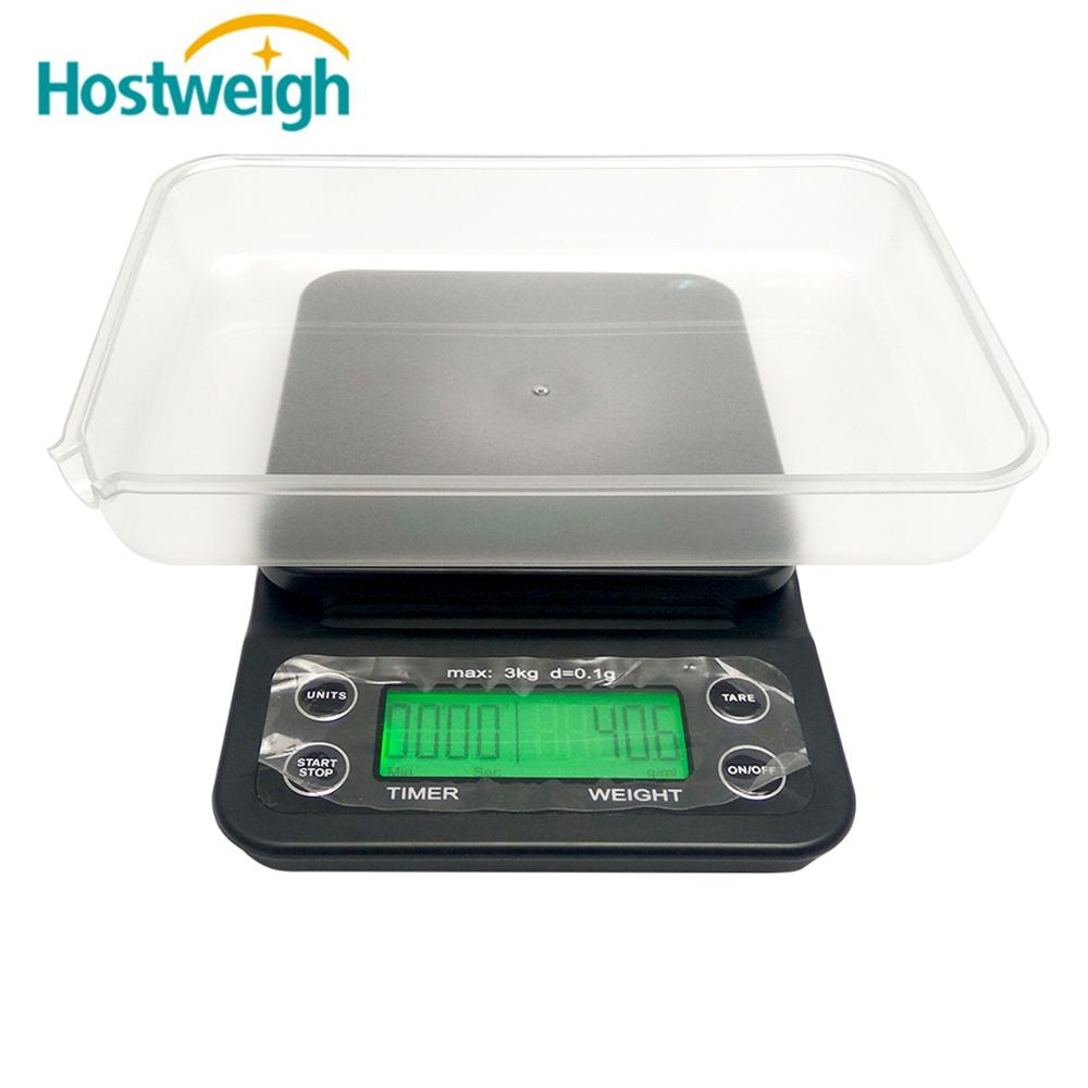 Electric Digital kitchen coffee weighing scale 0.1g with Timer Function