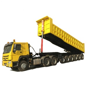 24units tyres 6units axles 100tons heavy loading tipper truck trailer with tractor for sale