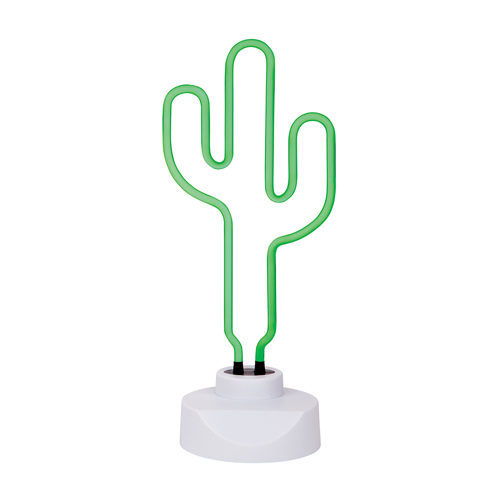 cactus Desk top neon <strong>sign</strong> with adaptor and plastic base