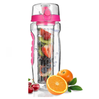 2019 Amazon Hot Sale New Product 1000ml Free Sport Flip Top Lid Tritan Fruit Infuser Water Bottle