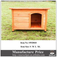 Flat and waterproof roof custom handmade dog kennel