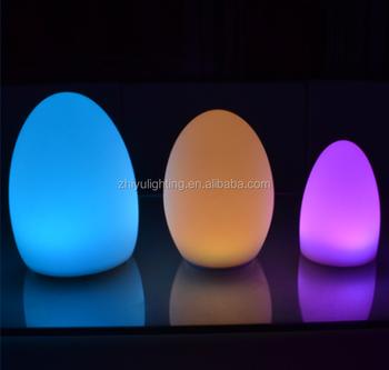 Rgb Remote Led Table Lights Led Desk Lamp Rechargeable Egg Shape - Rechargeable restaurant table lights