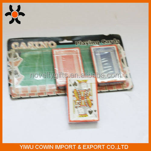 New Design playing cards ,3 pcs blister game card