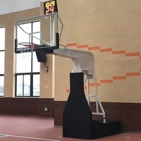 Professional International competition type electro-hydraulic basketball stand basketball hoops
