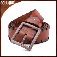 Stylish mens genuine wide leather belt