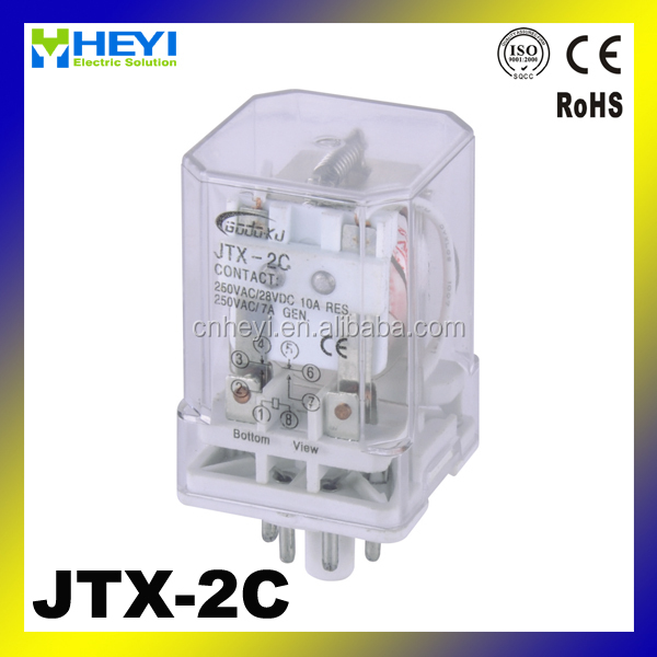 Power relay 8pins JTX-2C 220V mini relay 12v
