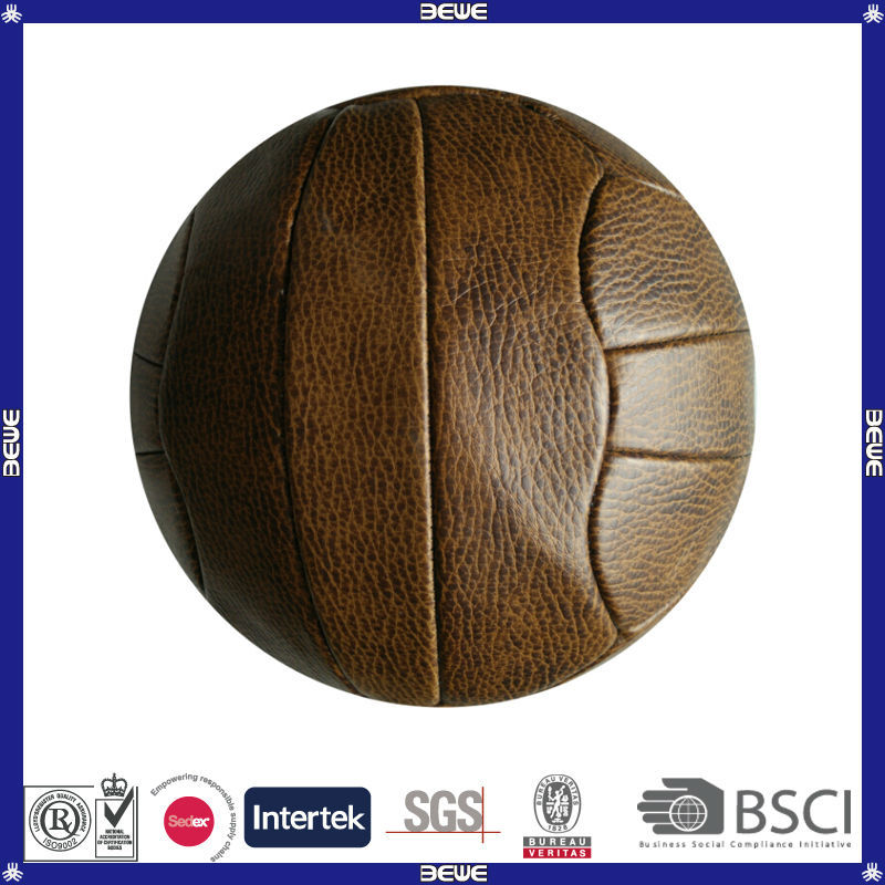 wholesale customized advertising real leather retro football