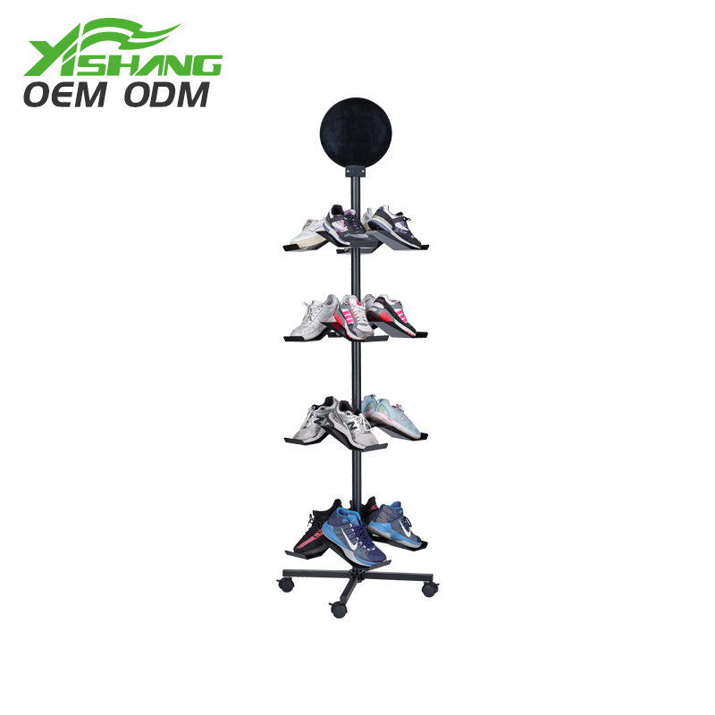 Professional standard shoes stand display ideas shelf