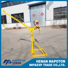 Roof Crane Small Mini Lift Crane 500 Kgs Concrete Lifting Machine Price