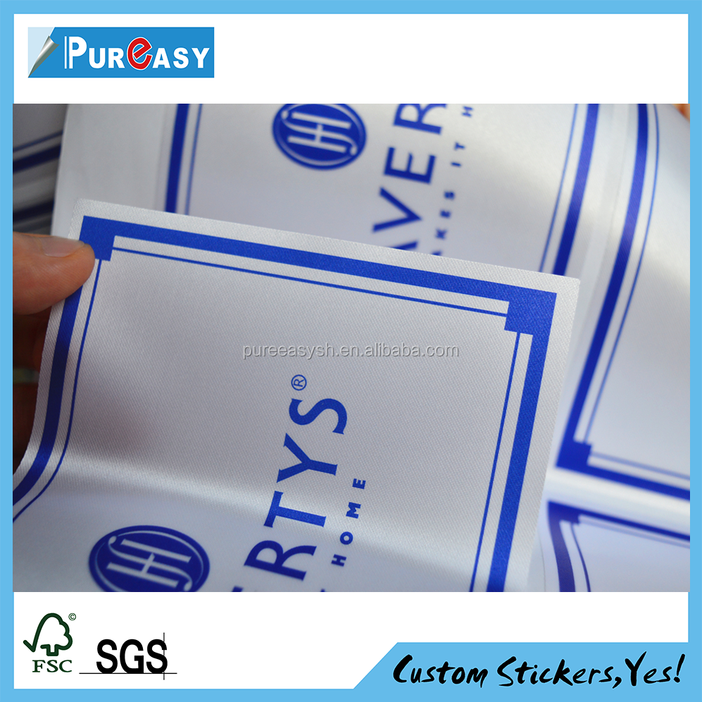 Custom water resistant private label textile label