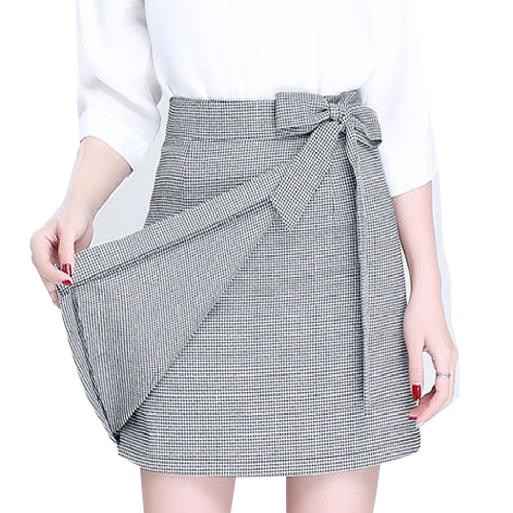Black And White Plaid Mini Skirt 75