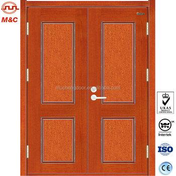 En Standard Interior Double Leaves Wood Fire Door With Label Buy