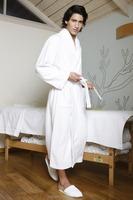 embroidered bathrobe terry cotton bathrobe with fashion design