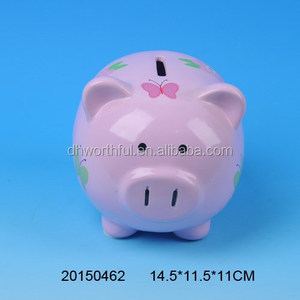 Lovely butterfly shaped ceramic piggy bank