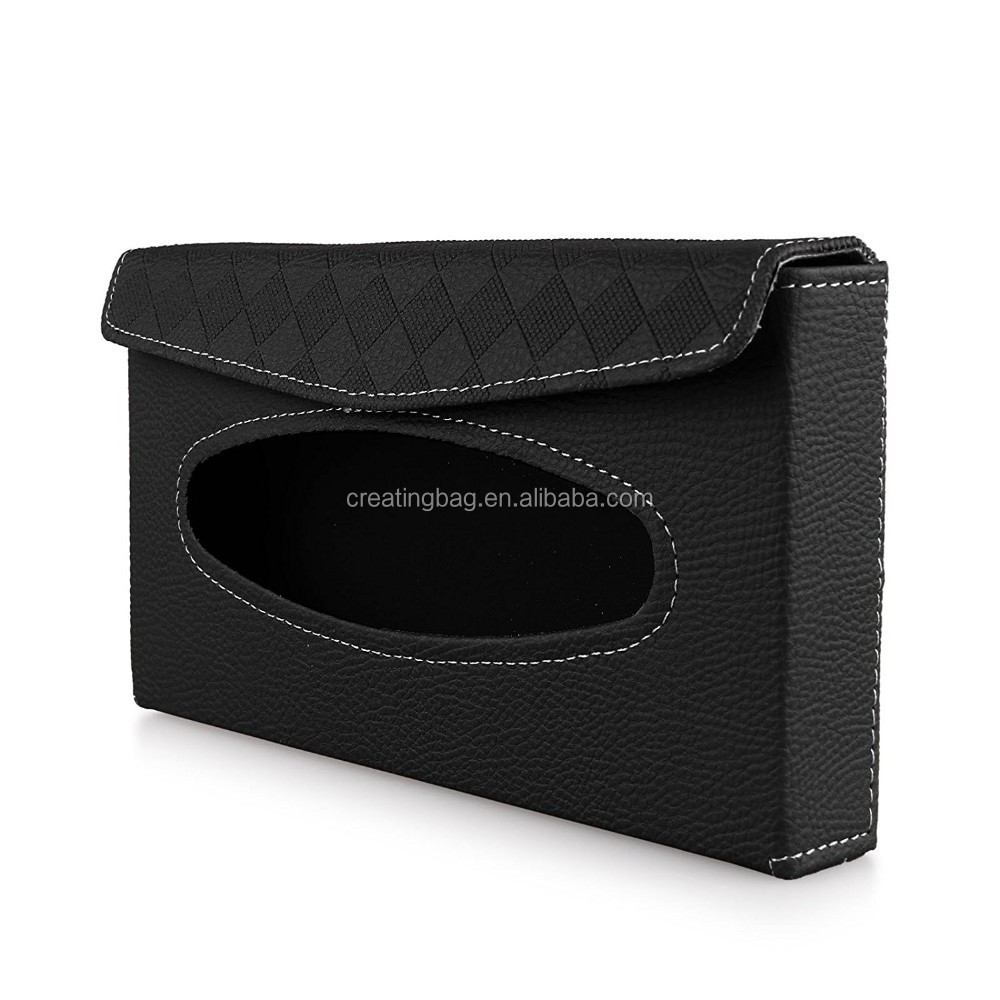 Luxurious Car Sun Visor Tissue Paper Box Napkin Clip Box Tissue Cover Holder