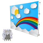 Custom design portable folding backdrop pop up stand display with graphics