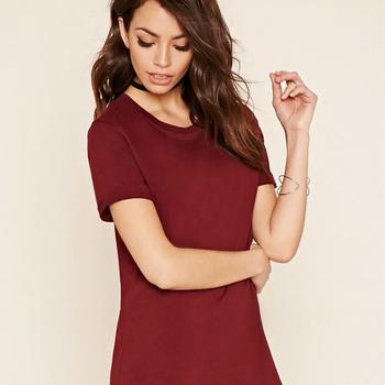 ec77a93ceb338b Fashion Dames Casual Jurken Zomer Lange T-shirt Jurken Kleding Klassieke  T-Shirt Jurk