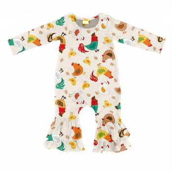 2d5288fce6a 2018 spring fall print flower toddler ruffle baby romper kids remake  clothing