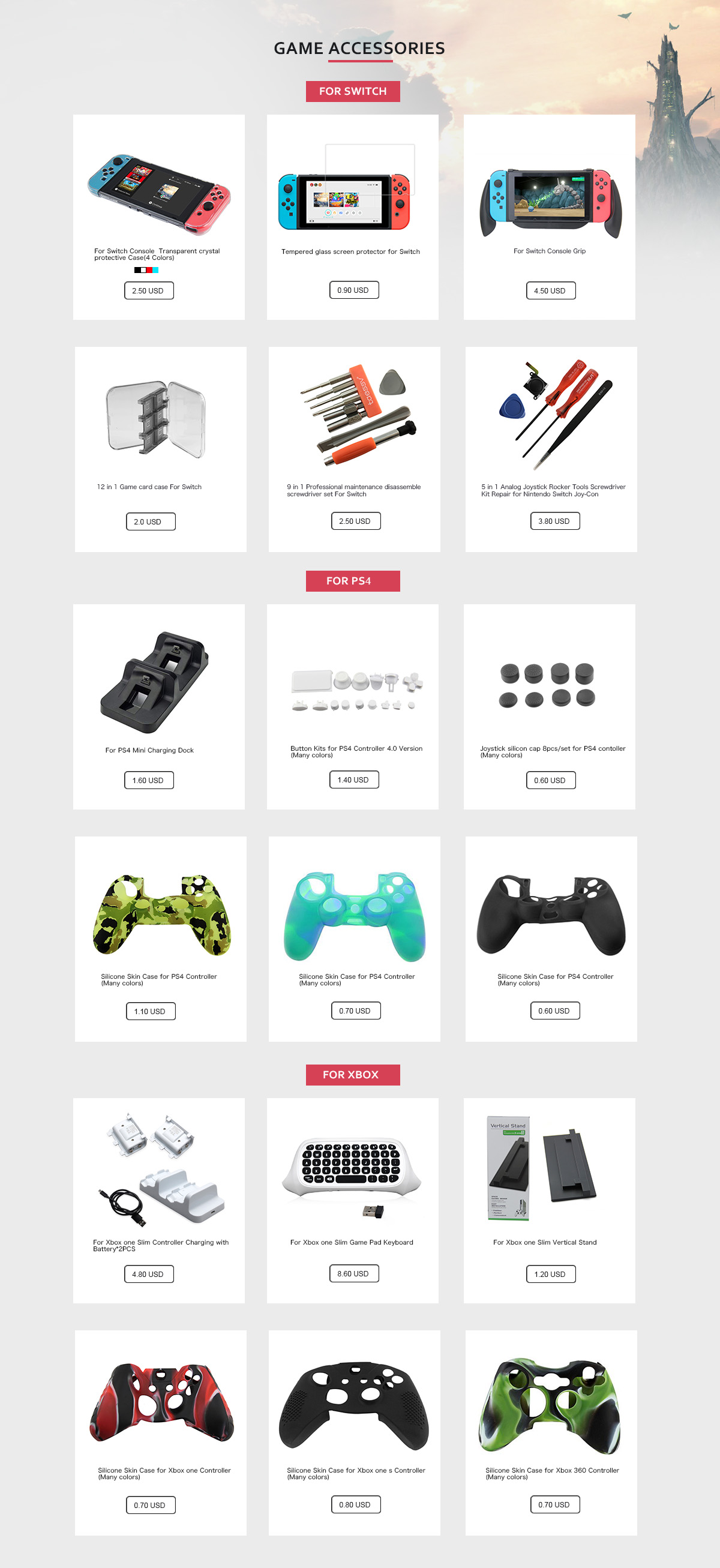 Honson Electronic (Shenzhen) Co , Ltd  - Game Controller, Game Case