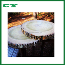 Wedding Table Centerpiece Set of 4 Natural Wood Slices Rustic Tree Bark Slice