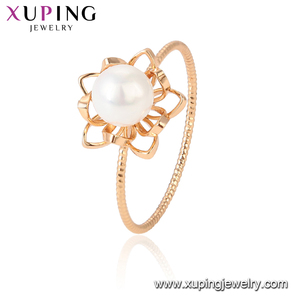 15430 xuping royal fine rings jewelry for women with imitation pearl