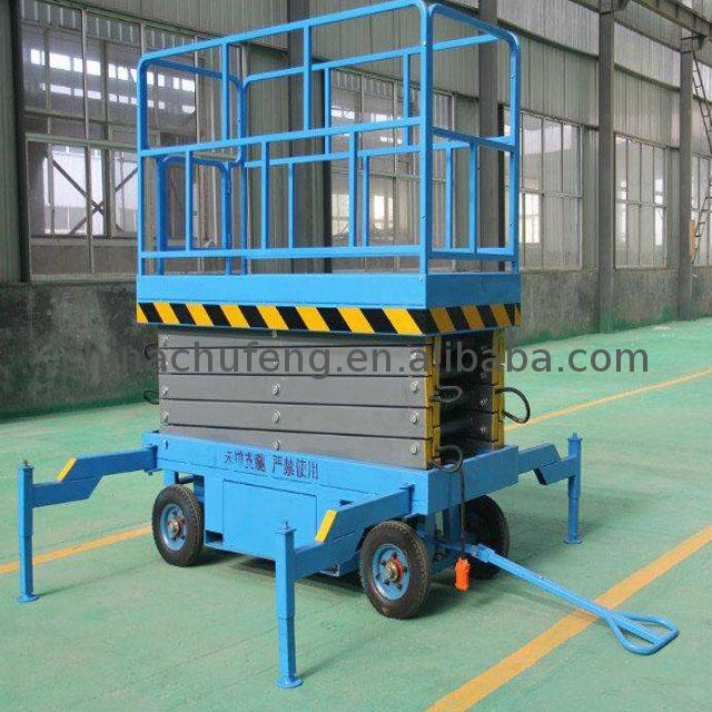 Electric Trailer With Scissor Lift Platform Sjy, Electric Trailer ...