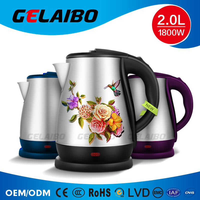 Superior home appliance electric kettles that boil milk and glass electric kettle with fashion design