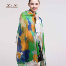 Pure mongolian printed cashmere scarf&hijab for ladies