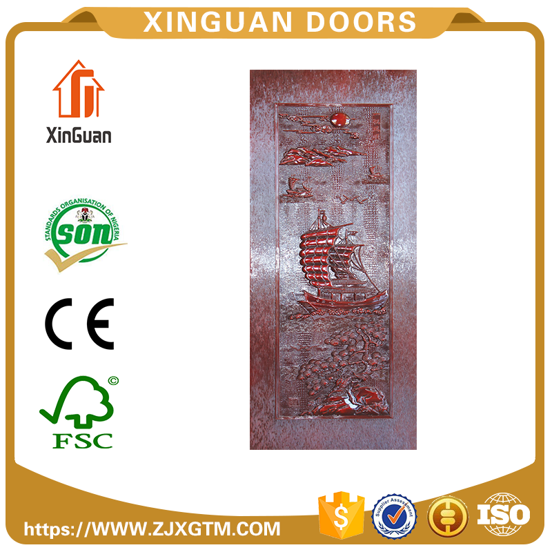 China factory Top level Environmental melamine faced wood door skin