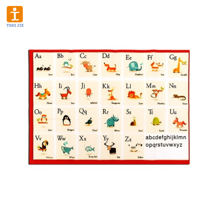 Custom Laminated Large Promotion Printing Leaning Educational Wall Posters For Kids