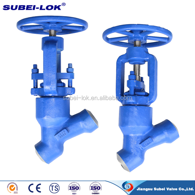 High Pressure self-sealing Globe Valve Y pattern with Good Price
