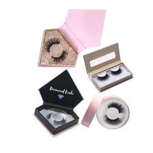 Wholesale Private Label 3D Faux Mink 25MM Eyelashes Vendor False Korean Silk Synthetic Eye Lash Own Brand Custom Packaging Box