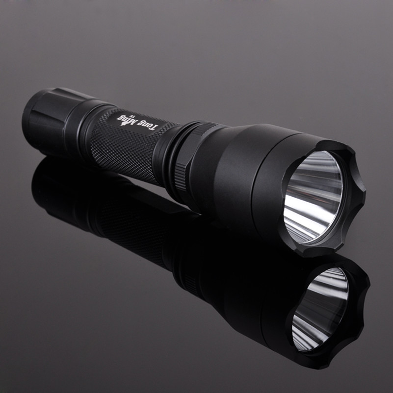Tongming Y8 18650 battery strobe Aluminum 5 modes Q5 rechargeable waterproof tactical LED flashlight torch light