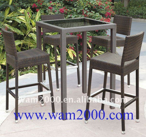 bar en rotin ext rieur haute table et chaises pour jardin outils de jardin id de produit. Black Bedroom Furniture Sets. Home Design Ideas