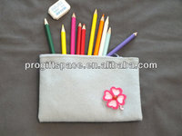 New product 2017 alibaba wholesale handmade pure wool felt women pencil make up bag made in China