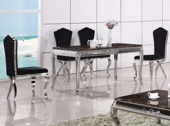 A8052 Stainless Steel Marble Dining Table Base Prices