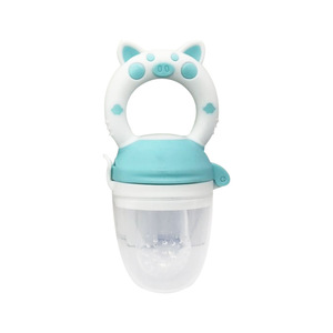 New Design Cartoon Animal Shape Newborn Food Biting Baby Pacifier Baby Fruit Vegetable Feeder