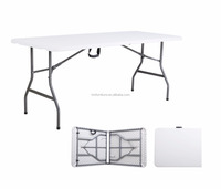 6FT Folding In Half Table stainless steel folding writing table