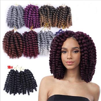 African Women Short Marley Twist Curly Hair Mali Bob Crochet Braids